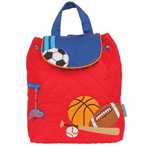 Sports, Soccer, basketball, baseball, football, Quilted Backpack