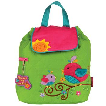 Cute Birdie Quilted Backpack