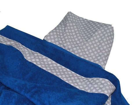 Grey Ta Dot on Royal Blue Auto Seat Cover