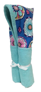 La Dee Da Blue Tiffany Hooded Towel