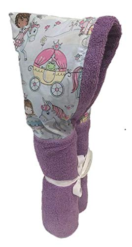 Kid Kovers Glitter Princess Lavender Hooded Towel