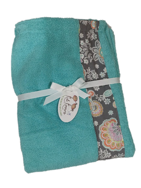 Jolie pastel paisley floral Tiffany Towel Wrap, Personalization available