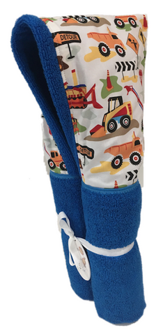 Construction Azure Hooded Towel