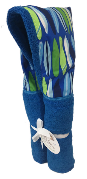 Surfboards Azure Blue Hooded Towel