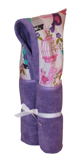 Sing Song Lavender Hooded Towel