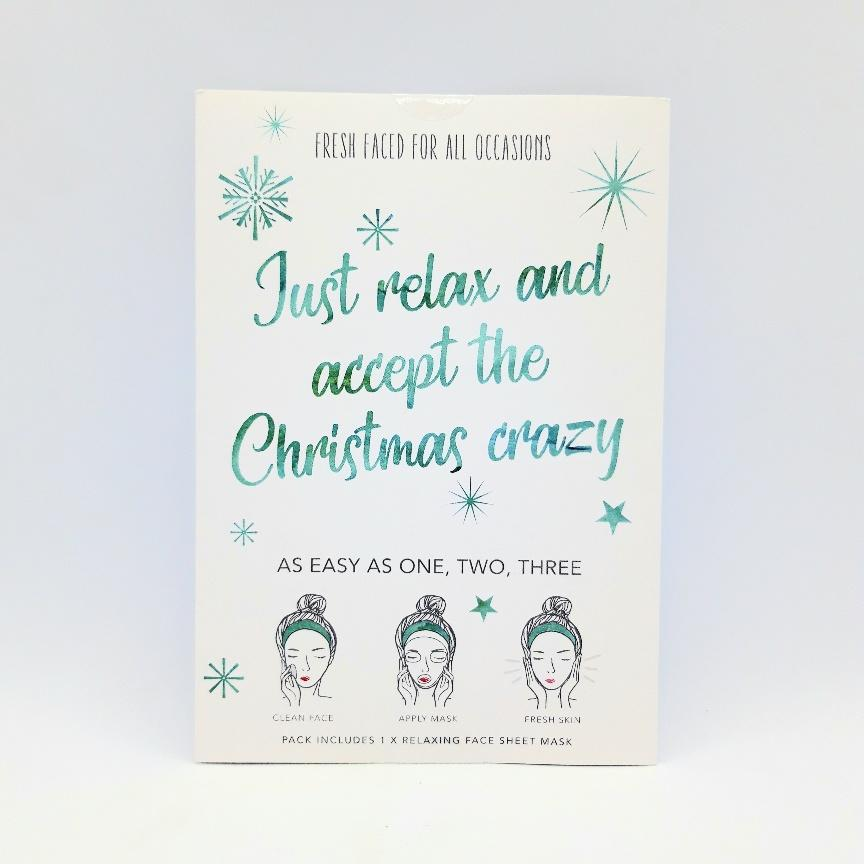 Just Relax and accept the Christmas Crazy Face Sheet Mask