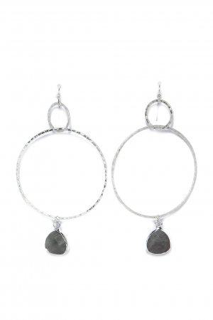 Triple Drop Silver Earrings