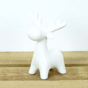 White Ceramic Reindeer Decoration