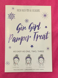 Gin Girl Pamper Treat Face Sheet Mask
