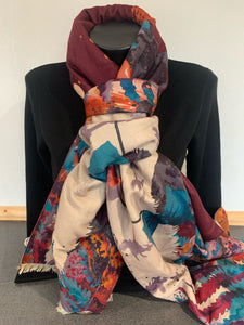 Luxurious Mr Fox Print Scarf