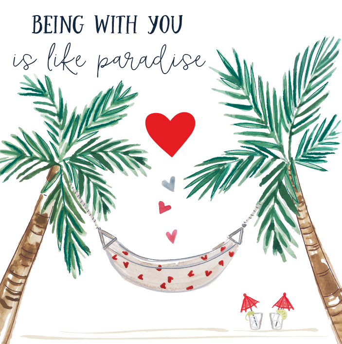 Paradise Valentines Day Card