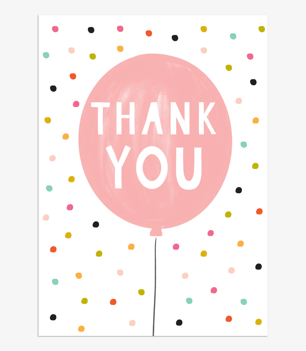 Think of Me Thank you Balloon Notecards