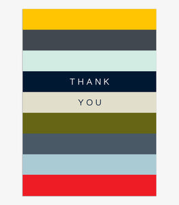 Think of Me Thank You Stripes Notecards