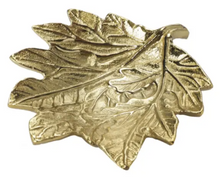 Load image into Gallery viewer, Large Gold Leaf Trinket Dish