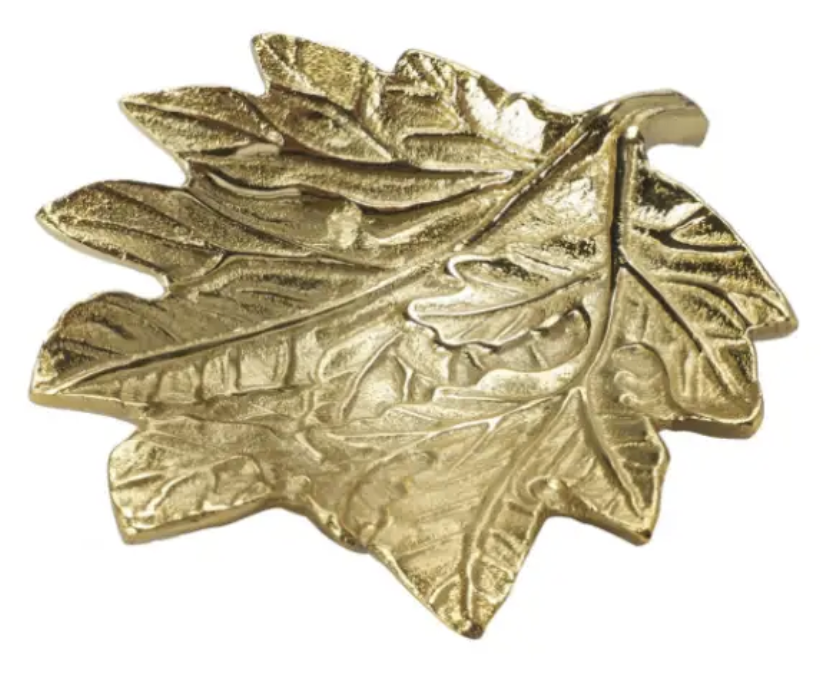 Large Gold Leaf Trinket Dish
