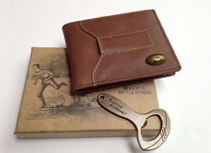 Rugby Leather Wallet & Bottle Opener