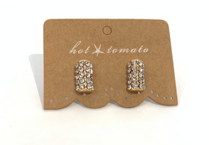 Gold Sparkle Barrel Studs