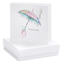 Load image into Gallery viewer, Boxed Umbrella Mum Earring Card