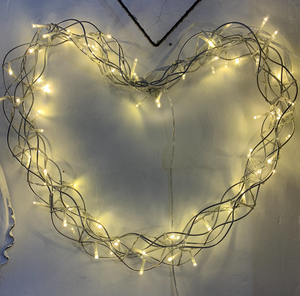 Led Heart Wreath