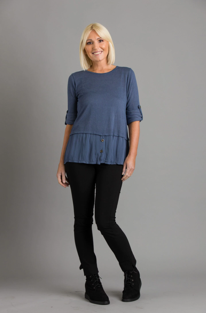 Plain Button Top