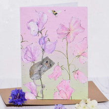 Load image into Gallery viewer, SweetPea & Mouse Plantable Seed Card