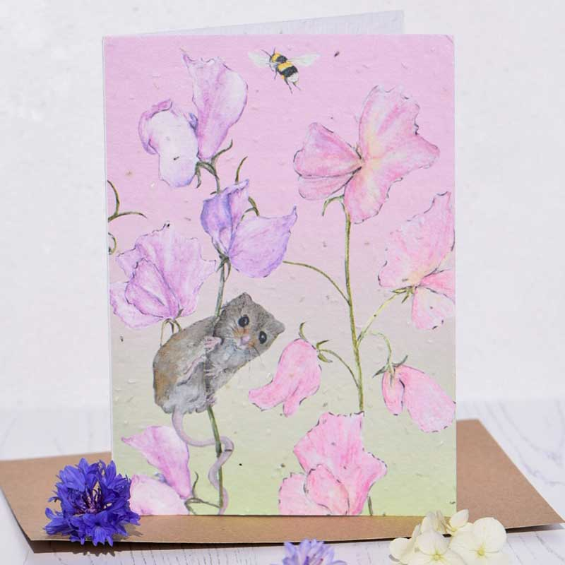 SweetPea & Mouse Plantable Seed Card