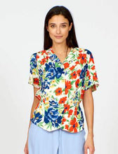 Load image into Gallery viewer, Jean Blouse in Painted Yellow Flower Print