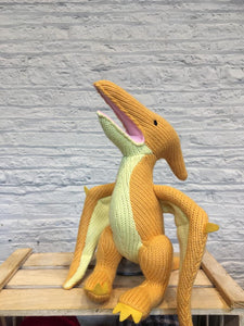 Knitted Yellow Pterodactyl