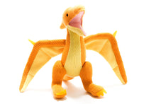 Load image into Gallery viewer, Knitted Yellow Pterodactyl