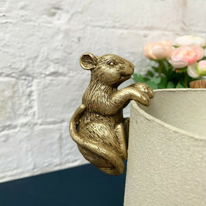 Gold Mouse Pot Hanger Ornament