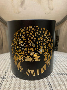 Small Black & Gold Stag Light Holder