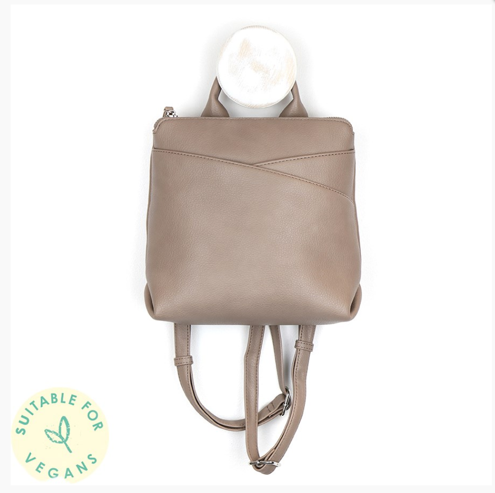 Taupe Wrap Detailed Backpack