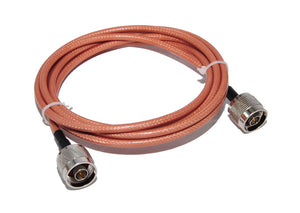 3ft RG142 Teflon Coated High Temperature Coax Cable, N Male (36 in).