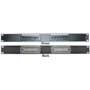 CableWholesale 69BK-06012 Rackmount 12 Port Cat6 Patch Panel, Horizontal, 110 Type, 568A & 568B Compatible, 1U