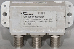 Andrew PN: 7532125-00 Crossband Coupler Cross Band 806-941/1850-1995 MHz