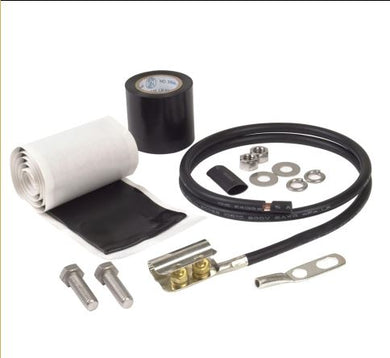 Times Microwave GK-S600T: Grounding Kit for LMR600, 3' of 6 ga. cable, a field attachable 1/4
