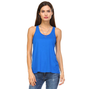 Blue Racer Back Tank