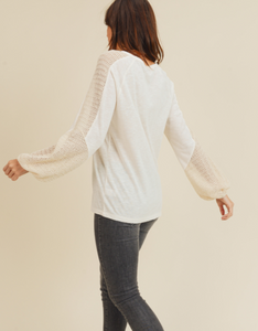 Knit Sleeve Stripe Top