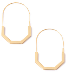 Half Octagon Hoop Earrings