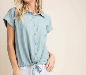 Sage Green Button Down