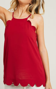 Scalloped Halter Cami