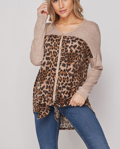 Cheetah Button Down