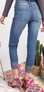 Cheetah Cuff Denim
