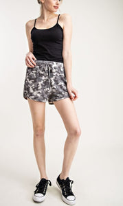Grey Camo Shorts with Pockets