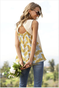 Floral and Stripe Tank