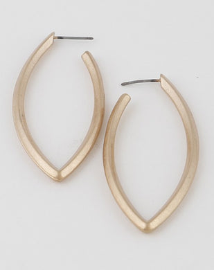 Leaf Frame Hoop Earrings