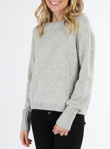 All Tied Up Heather Grey Sweater