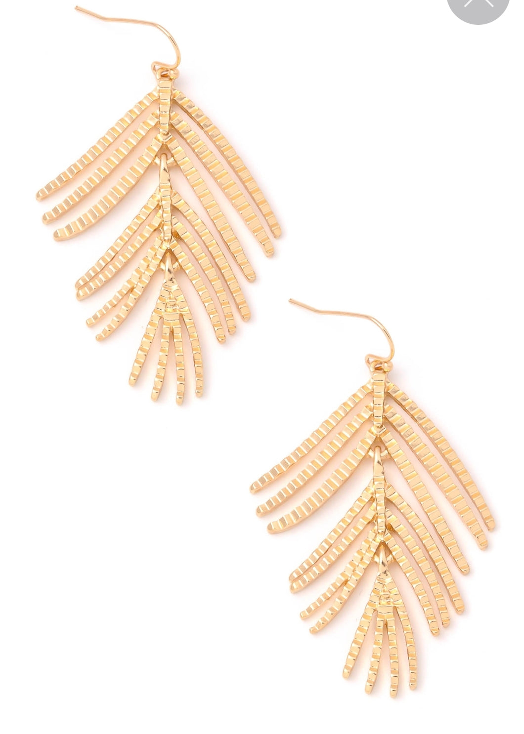 Gold Fern Earrings