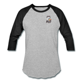 KRAZY MOB Baseball T-Shirt - heather gray/black