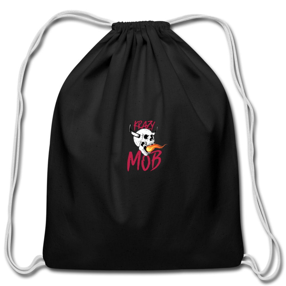 KRAZY MOB DRAWSTING BAG - black